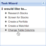the task wizard