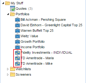 linked portfolios