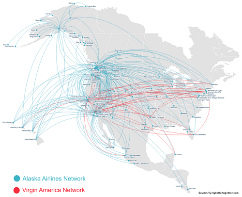 alaska virgin route map